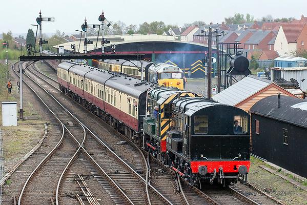 12099 and D3022 (08016), Kidderminster 25/4/2008 0940 Bewdley-Kidderminster