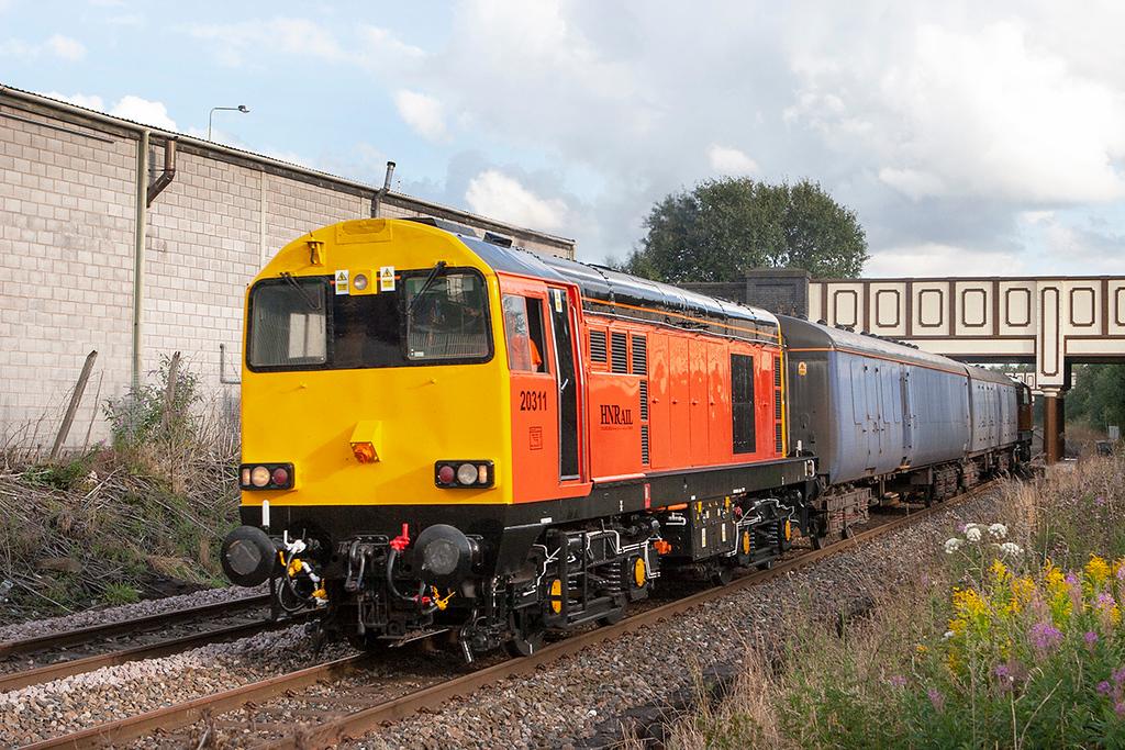 20311 and 20314, Chorley 21/8/2012<br /> 5Z20 1225 Washwood Heath-Kilmarnock