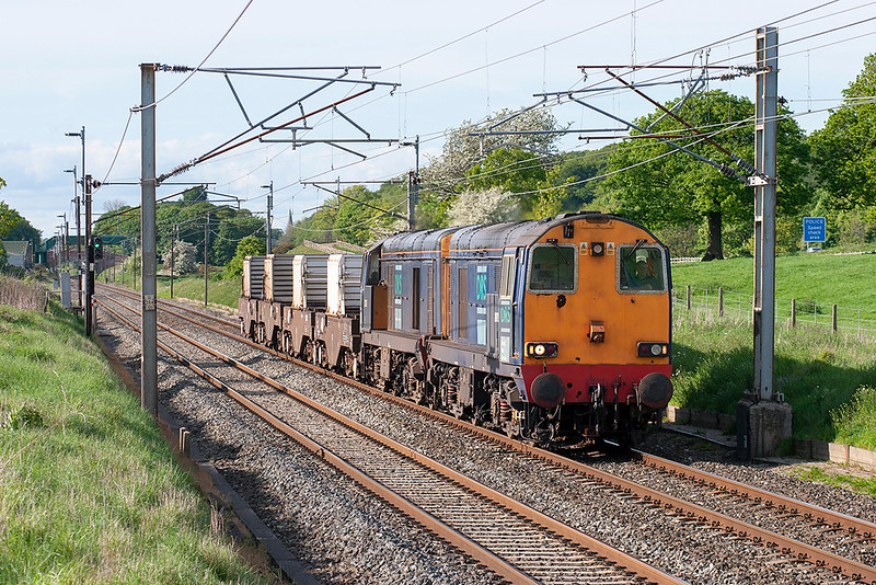 20312 and 20307 Woodacre 14/5/2007<br /> 6K73 1535 Sellafield-Crewe CLS