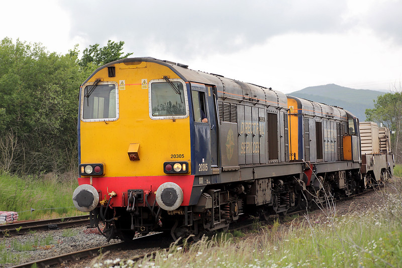 20305 and 20306, Foxfield 24/6/2015<br /> 6K73 1718 Sellafield-Crewe CLS