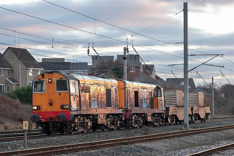 20313 and 20310 Carnforth 26/1/2006<br /> 6C52 1638 Heysham-Sellafield