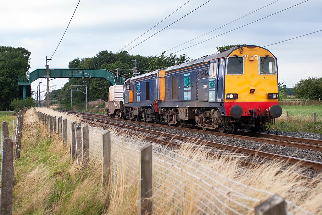 20307 and 20314, Brock 14/8/2006<br /> 6K73 1535 Sellafield-Crewe CLS
