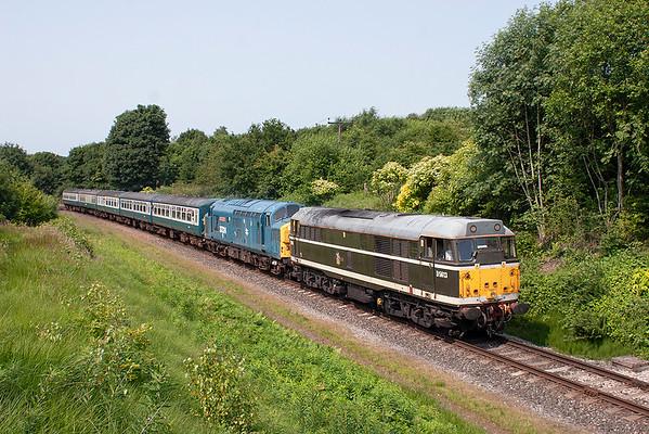 D5613 (31190) and 37324, Little Burrs 5/7/2013 2E80 1504 Ramsbottom-Bury Bolton Street