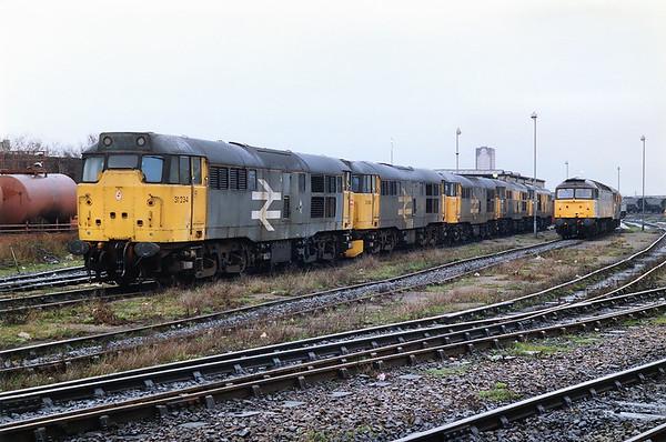31234, 31164, 31317, 31102, 31166, 47360 and 31516, Saltley TMD 7/3/1992