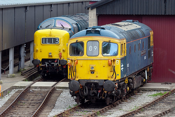 33109 and 55022, Oxenhope 7/6/2009