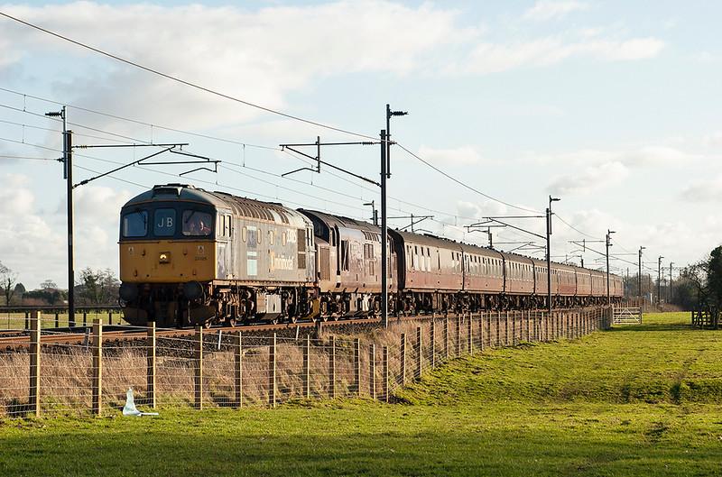 33025 and 37197 Brock 8/2/2006<br /> 5Z37 1300 Crewe CS-Carnforth