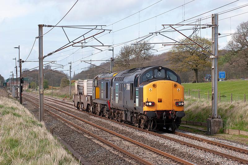 37606 and 20315 Woodacre 24/4/2008<br /> 6K73 1535 Sellafield-Crewe CLS
