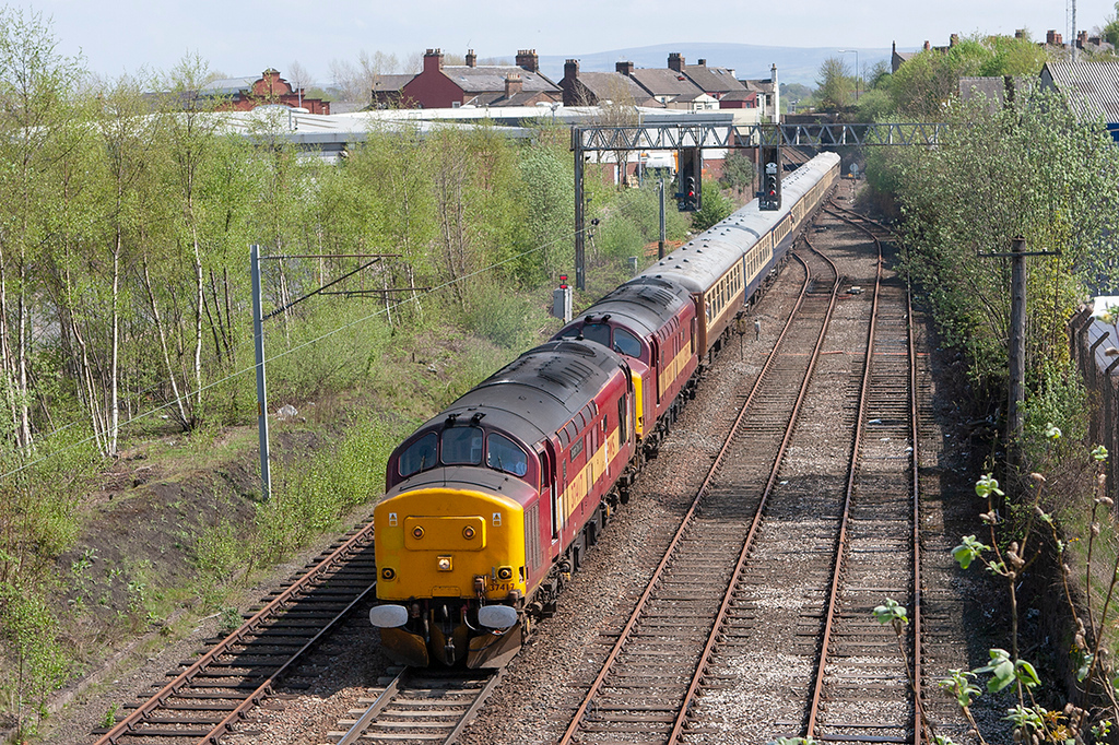 37417 and 37401 Carlisle 5/5/2008<br /> 1Z66 0528 Swindon-Carlisle