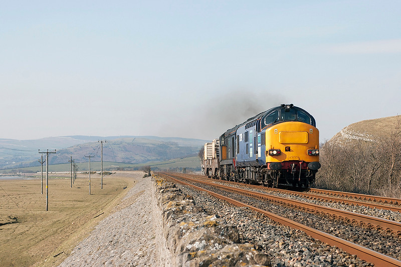 37259 and 20313 Cartmel Sands 23/3/2006<br /> 6C51 1237 Sellafield-Heysham