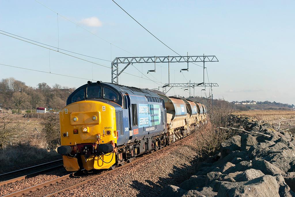 37419 Cardross 25/2/2013<br /> 6K60 1230 Mossend Down Yard-Fort William