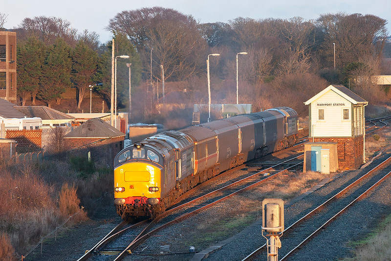 37259, 47790 and 57004 Maryport 17/12/2009<br /> 2Z33 1510 Maryport-Workington