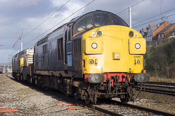 37087 and 37229, Carnforth 8/11/2007 6C51 1237 Sellafield-Heysham