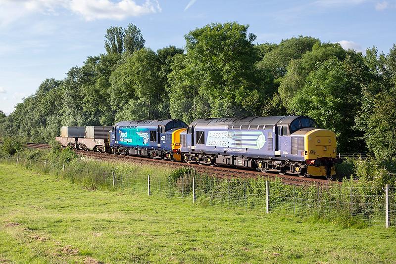 37682 and 37218, Arnside 16/6/2014<br /> 6K73 1718 Sellafield-Crewe CLS