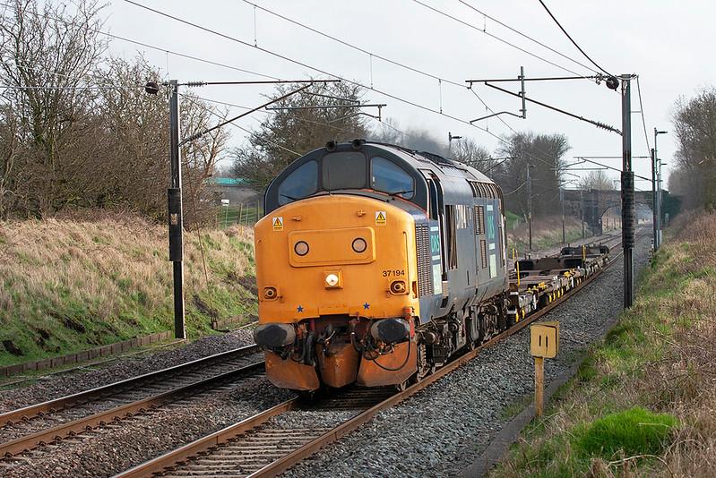 37194 Woodacre 16/3/2009<br /> 4Z41 1450 Stoke Marcroft-Carlisle Kingmoor