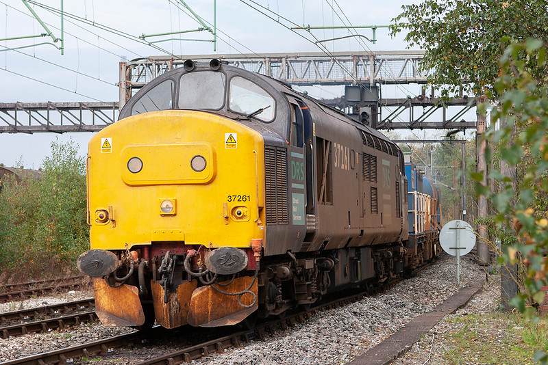 37261 Crewe 15/10/2007<br /> 3J96 0849 Crewe Gresty Bridge-Crewe Gresty Bridge (via Holyhead)