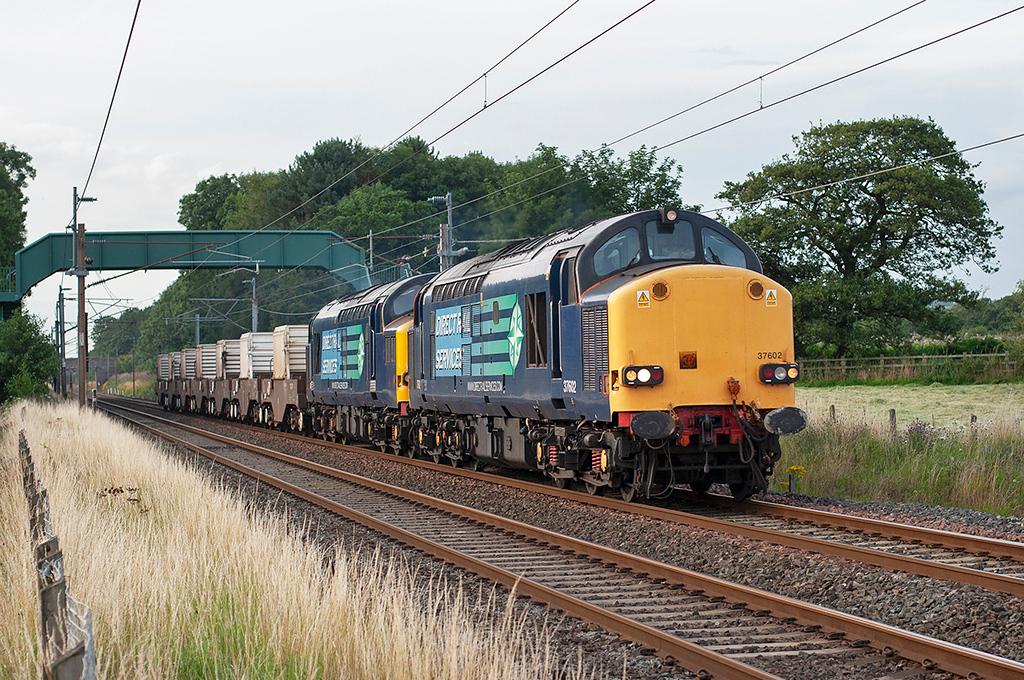 37602 and 37069 Brock 5/8/2009<br /> 6K73 1723 Sellafield-Crewe CLS