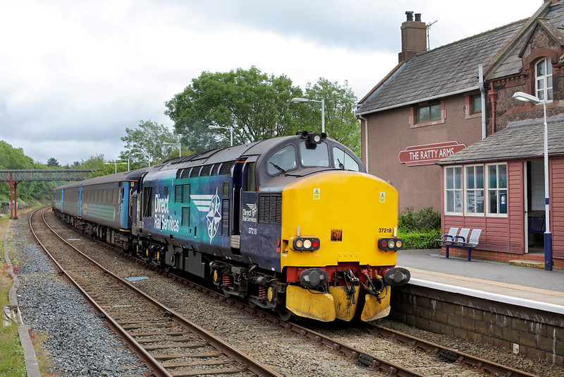 37218 Ravenglass 24/6/2015<br /> 2C41 1437 Barrow in Furness-Carlisle