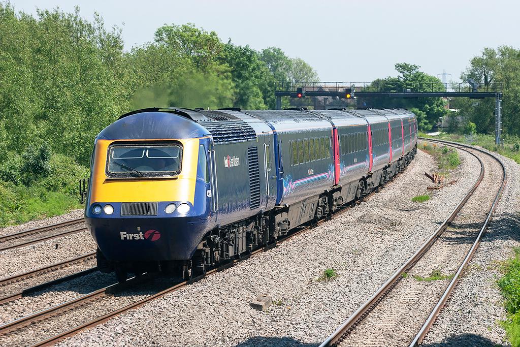 43196 and 43134, Magor 29/5/2012<br /> 1B27 1115 London Paddington-Cardiff Central