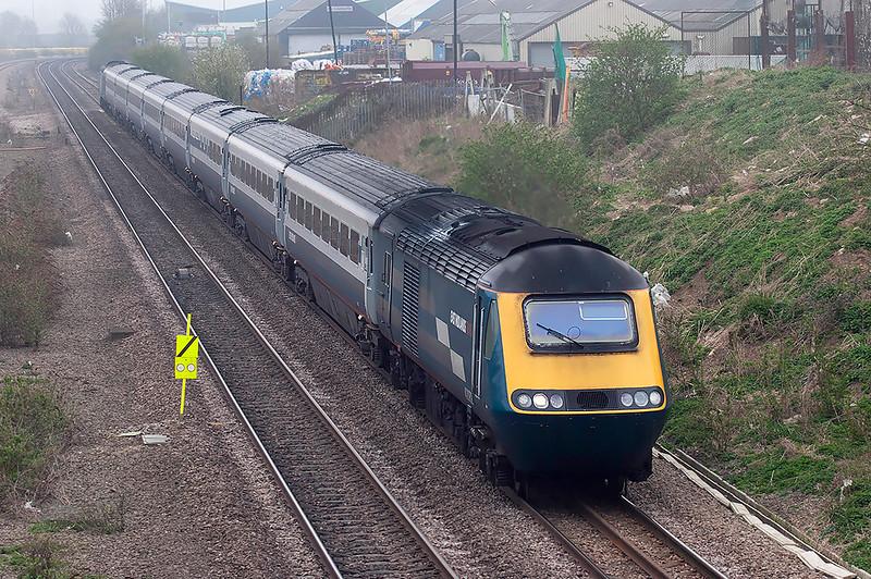 43082 and 43061, Wellingborough 3/4/2009<br /> 1D17 0915 London St Pancras-Nottingham