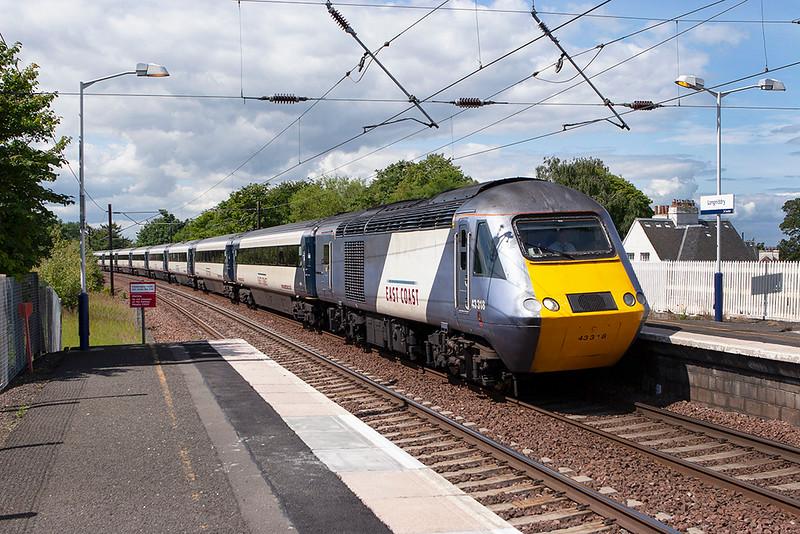 43318 Longniddry 1/7/2011<br /> 1E13 0755 Inverness-London Kings Cross