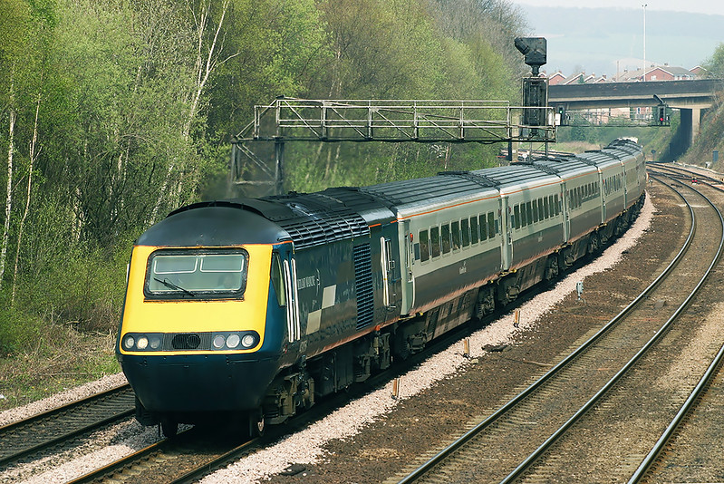 43051 and 43073, Chesterfield 22/4/2005<br /> 1C33 1227 Sheffield-London St Pancras