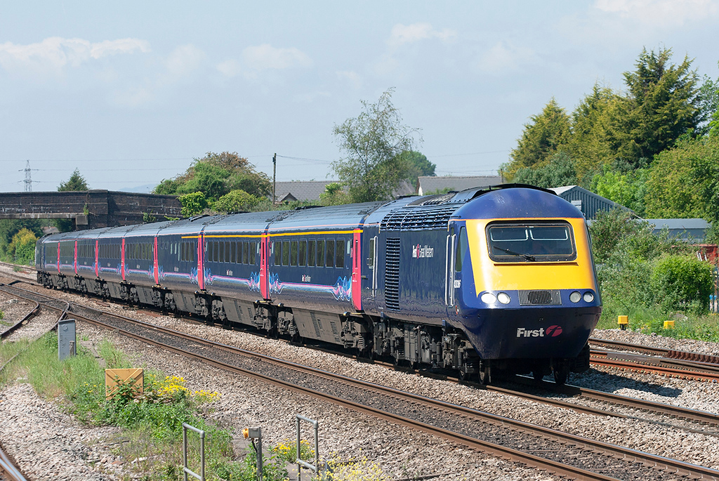 43036 and 43091, Magor 29/5/2012<br /> 1L55 1128 Swansea-London Paddington