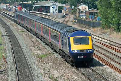 43016 and 43015, West Drayton 24/7/2008 1L40 0730 Carmarthen-London Paddington