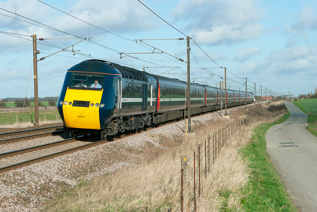 43057 and 43313, Colton Junction 30/1/2008<br /> 1E10 0753 Aberdeen-London Kings Cross