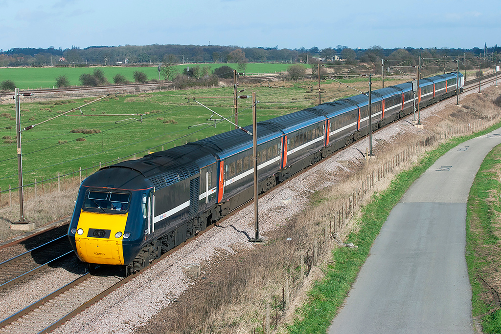 43208 and 43306, Colton Junction 30/1/2008<br /> 1E08 0930 Edinburgh-London Kings Cross