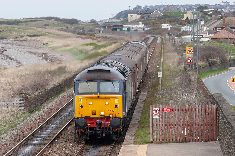 47501 and 57012, Flimby 15/4/2010<br /> 2T10 1145 Maryport-Workington