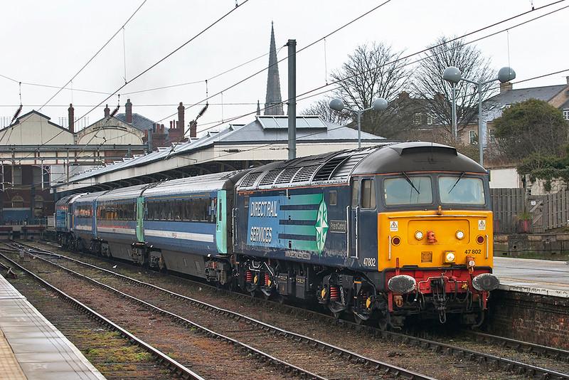 47802 and 47805, Norwich 12/4/2013<br /> 2J66 0750 Norwich-Lowestoft
