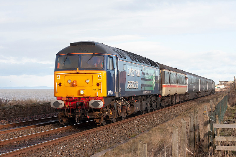 47790 and 57012, Flimby 29/1/2010<br /> 2Z25 1050 Maryport-Workington