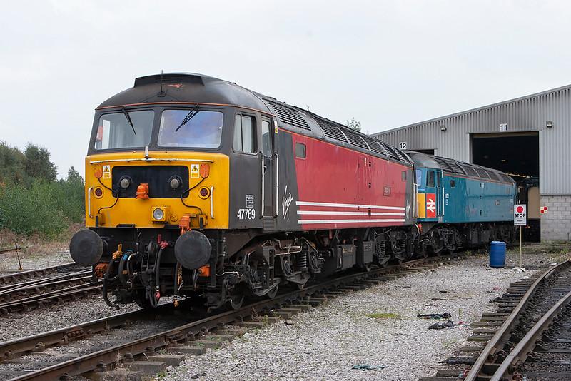 47769 and 47853, Crewe 15/10/2007