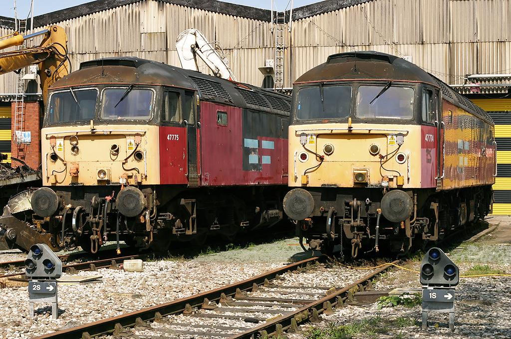 47774 and 47775, Crewe 14/5/2005