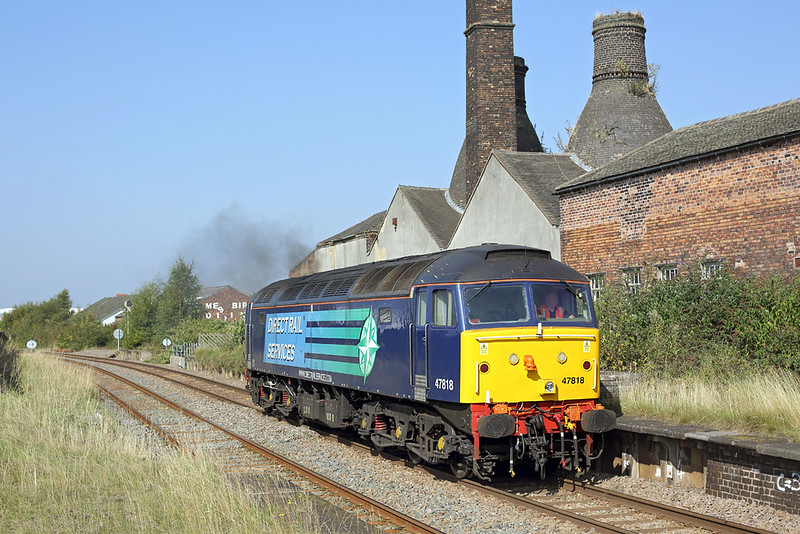 47818 Longton 16/9/2014<br /> 0Z02 1106 Crewe Gresty Bridge-Derby RTC