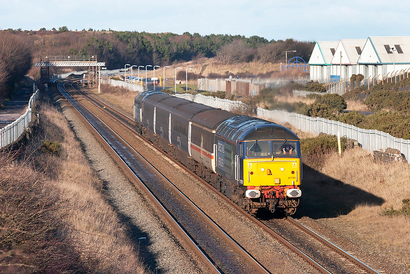 47790 and 57012, Derwent Junction 29/1/2010<br /> 2Z31 1400 Maryport-Workington