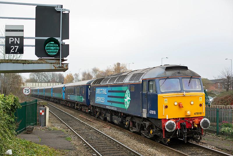 47818 Chorley 29/11/2014<br /> 2Z13 1352 Manchester Victoria-Chorley