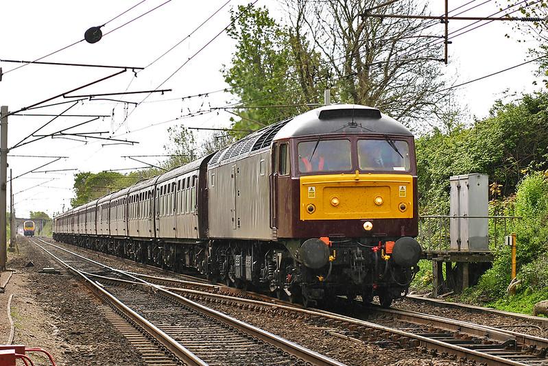 47854 Carnforth 9/5/2005<br /> 5Z73 1002 Derby-Carnforth