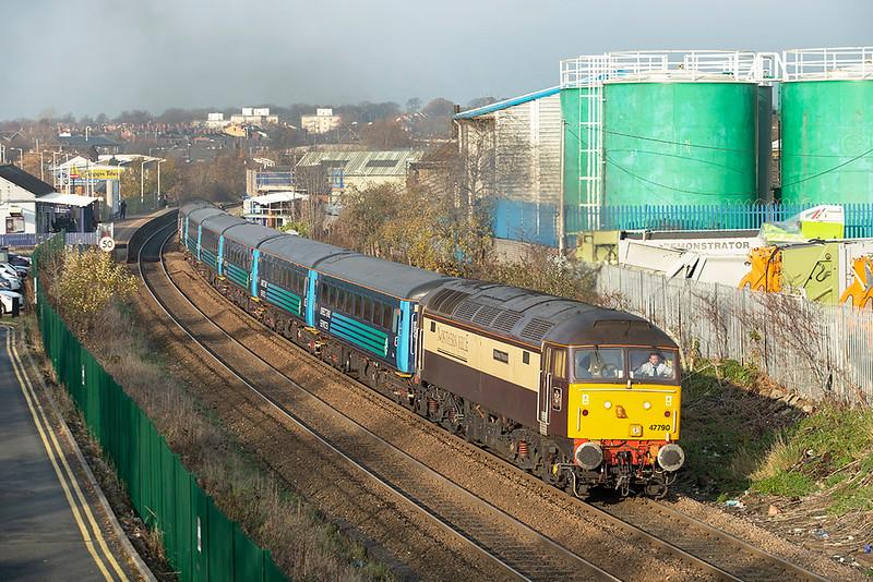 47790 Chorley 29/11/2014<br /> 2Z12 1247 Buckshaw Parkway-Manchester Victoria
