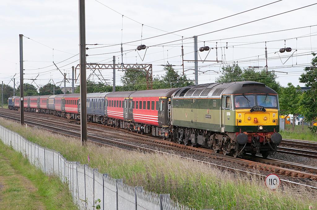 47815 and 47843, Farington Junction 14/6/2008<br /> 1Z86 0522 Runcorn-Edinburgh