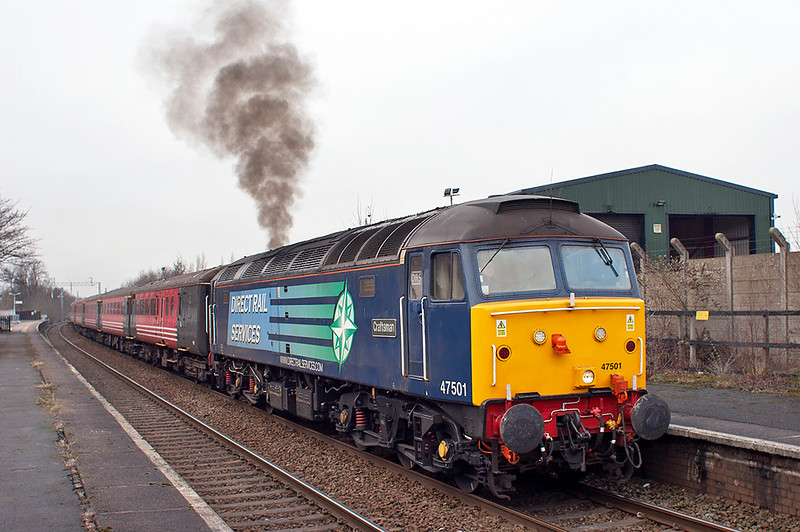 47501 Patricroft 10/1/2013<br /> 5Z45 0900 Crewe HS-Sideway DPL <br /> (via Liverpool Lime Street and Manchester Victoria)