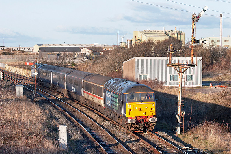 47790 and 57012, Workington 29/1/2010<br /> 2Z33 1510 Maryport-Workington