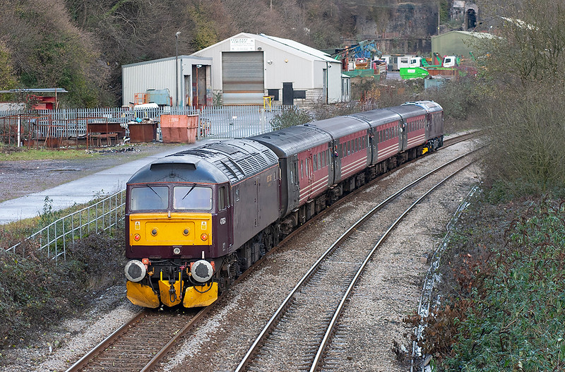 47854 and 33207, Llanbradach 4/12/2005<br /> 1Z40 1256 Cardiff Central-Rhymney