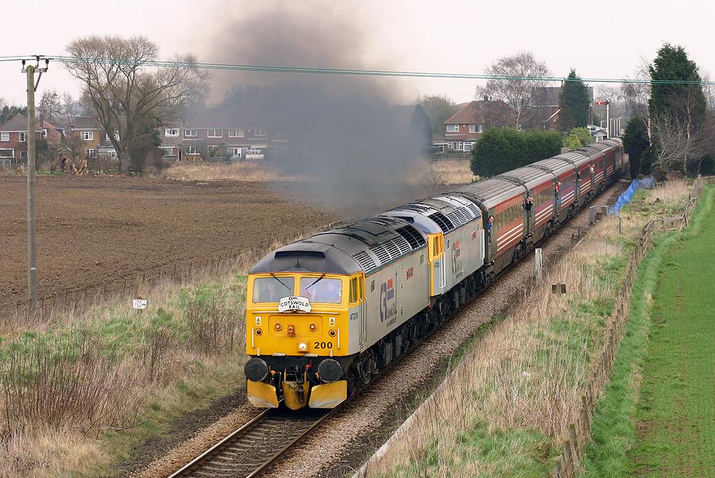 47200 and 47828, Poppleton 19/3/2005<br /> 1Z48 1222 York-York (via Harrogate and Leeds)