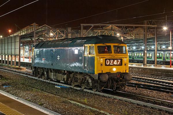 47270 Crewe 8/12/2009 0Z47 1647 Crewe CS-Crewe CS (via Chester, Wrexham, Birmingham New Street, Leamington Spa)