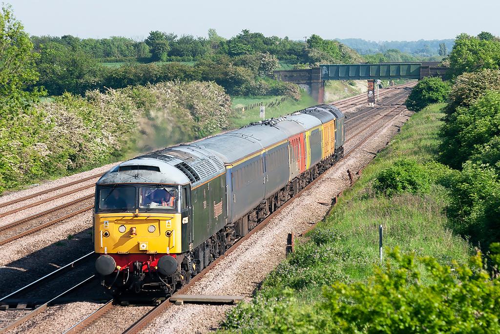 47355 and 47145, Cossington 2/6/2006<br /> 1Z14 0912 Banbury-Derby RTC
