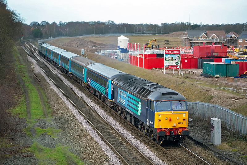 47818 and 47853, Buckshaw Parkway 20/12/2014<br /> 5Z08 1032 Preston-Chorley