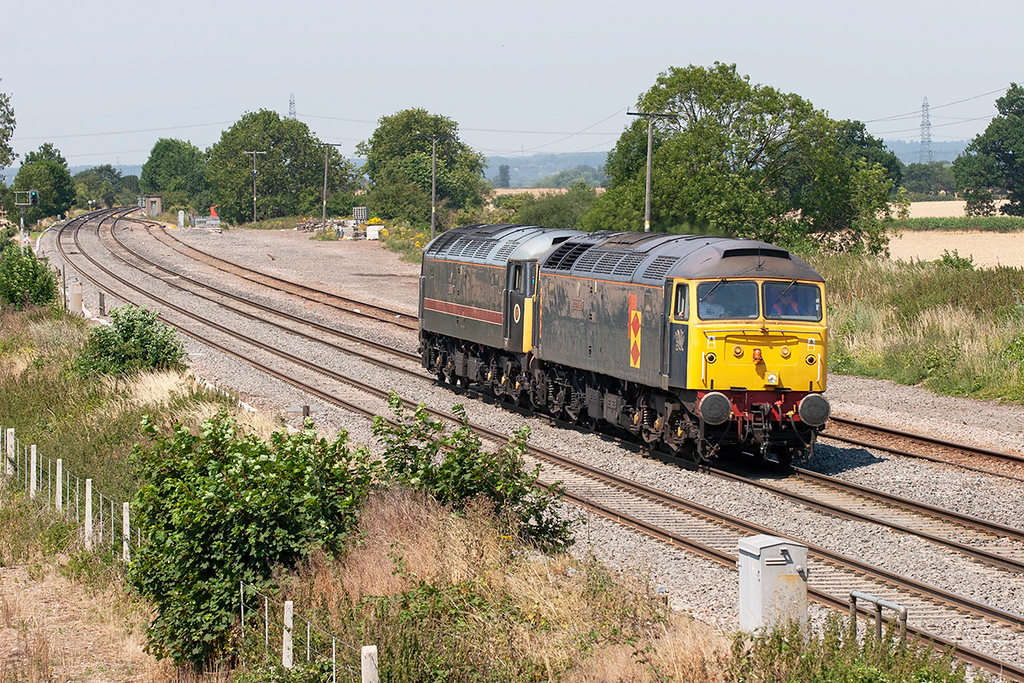 47145 and 47703, Elford 19/7/2006<br /> 0Z59 1037 Derby FMR-Oxley TMD