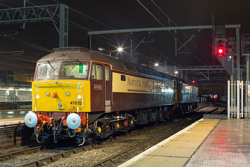 47832 and 47501, Crewe 29/11/2013