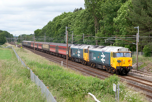 50031 and 50049, Brock 19/6/2006 1Z23 0815 Inverness-Swindon